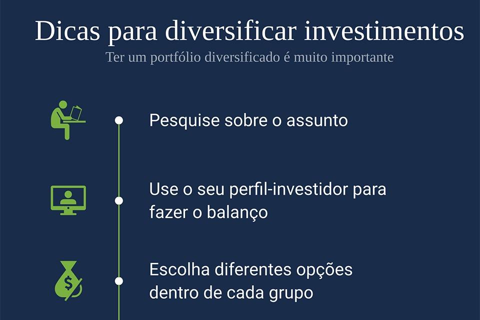 dicas para diversificar os investimentos