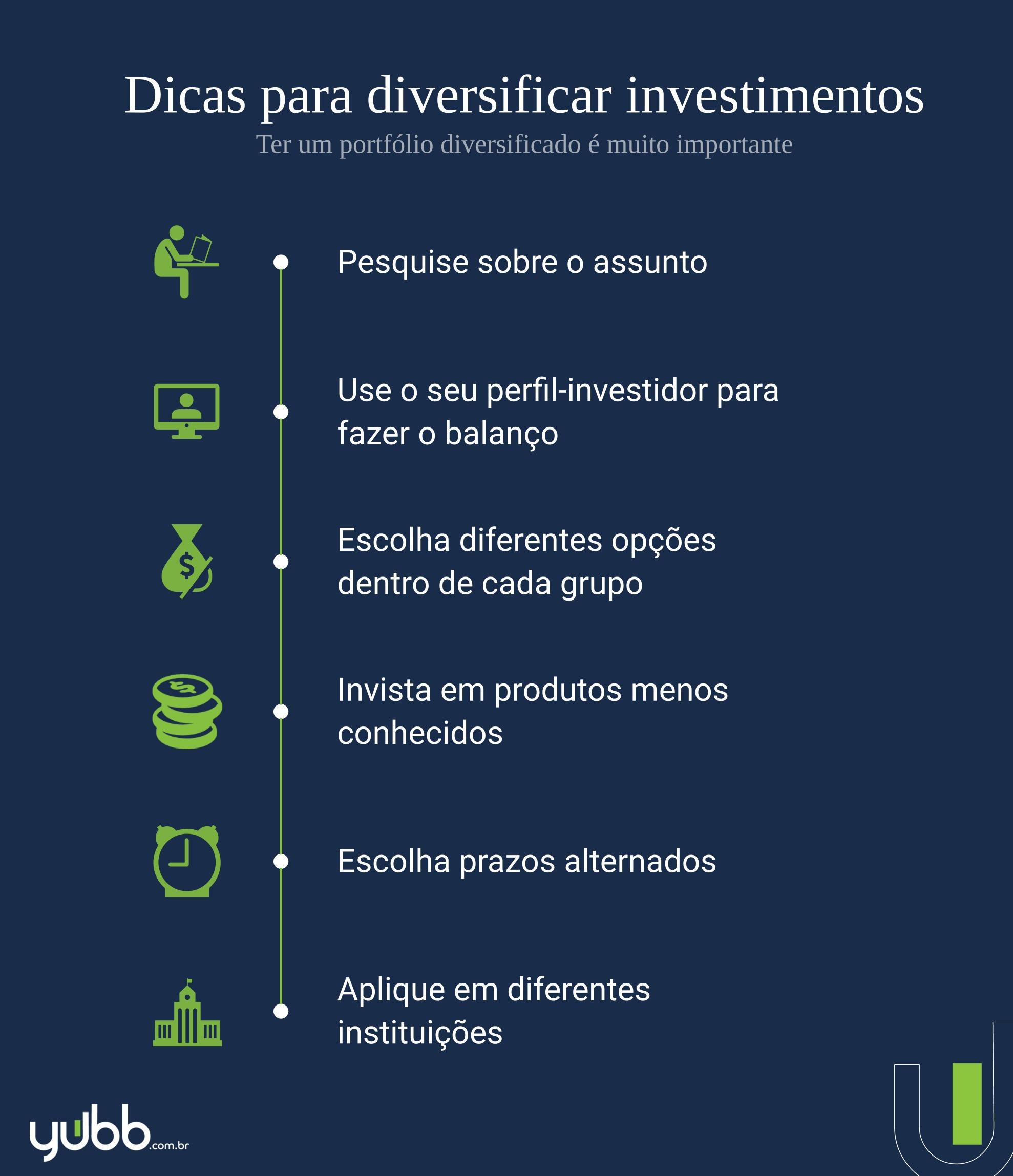 como diversificar os investimentos